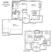 The Avia: 3 bed, 4bath, 2348 sq ft floor plan