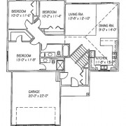 The Mulberry: 3 bed, 2 bath floor plan