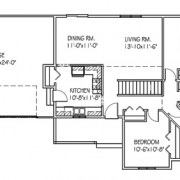 The Autumnridge: 3 bed, 1 bath floor plan