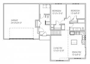 The Beechwood I: 2 bed, 2 bath floor plan