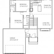 The Beechwood II: 2 bed, 1 bath floor plan