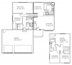 The Birchview: 4 bed, 2 bath floor plan