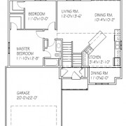 The Oakview II: 2 bed, 1 bath floor plan