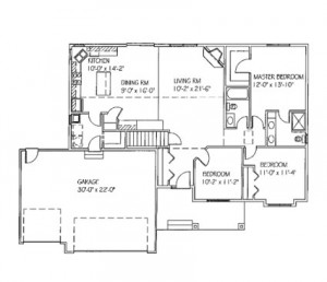 The McKenna: 3 bed, 2 bath floor plan