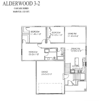Alderwood iii 2 floor plan from sales sheet progressive for Share builders plan