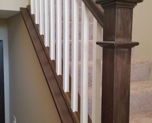 Teakwood White Railing