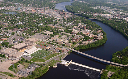City of St. Cloud, MN along the banks of the Mississippi River