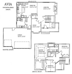 The Avia: 3 bed, 4bath, 2348 sq ft floor plan