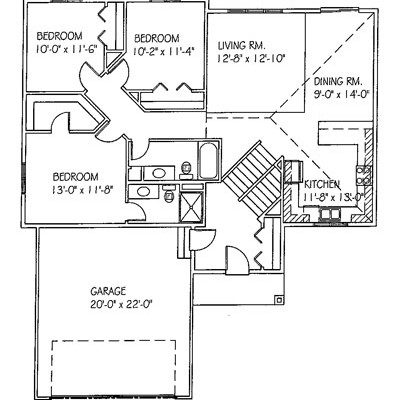 Floorplan of a move-in ready home in Clear Lake, MN located on 119th Ave. SE.