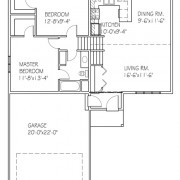 The Basswood I: 2 bed, 1 bath floor plan