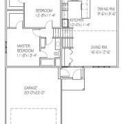 The Basswood II: 2 bed, 1 bath floor plan