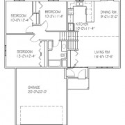 The Basswood IIII: 3 bed, 1 bath floor plan