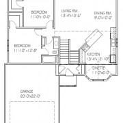 The Bayview: 2 bed, 1 bath floor plan