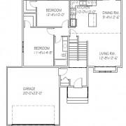 The Beechwood II: 2 bed, 1 bath floor plan