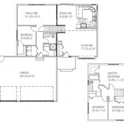 The Birchview: 4 bed, 2 bath floor plan