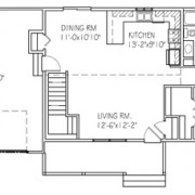 The Briarwood: 2 bed, 1bath floor plan