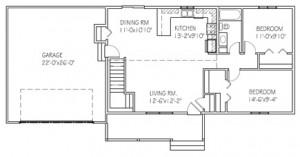 The Briarwood: 2 bed, 1bath floor plan