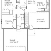 The Cedar: 2 bed, 1 bath floor plan