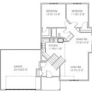 The Cherrywood II: 2 bed, 1 bath floor plan
