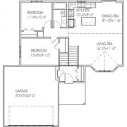 The Elmwood: 2 bed, 1 bath floor plan