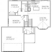 The Elmwood: 2 bed, 1 bath floor plan