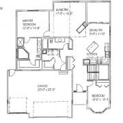 The Lisa: 2 bed, 2 bath floor plan