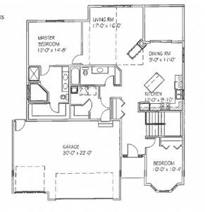 The Lisa: 2 bed, 2 bath floor plan