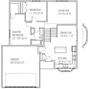 The Maple Ridge: 2 bed, 1 bath floor plan