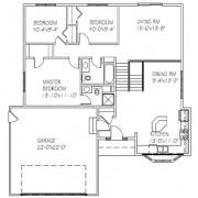 The Mapleridge Deluxe: 3 bed, 2 bath floor plan