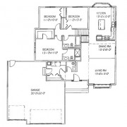 The Mariah: 3 bed, 3 bath floor plan