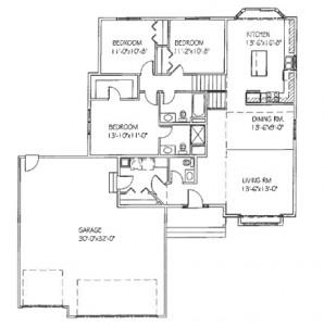The Mariah: 3 bed, 3 bath floor plan