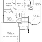 The Pinewood: 3 bed, 1 bath floor plan