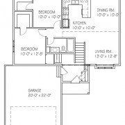 The Sandalwood: 2 bed, 1 bath floor plan