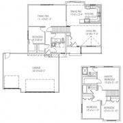 The Sommerset: 4 bed, 3 bath floor plan