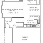 Twin Home: 2 bed, 1 bath floor plan