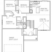 Floor plan of a move-in ready home in Elk River, MN located at 19144 Hoover St. NW.