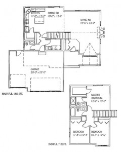 The Katelyn: 3 bed, 2 bath, 1712 sq ft floor plan