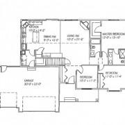 The McKenna: 3 bed, 2 bath floor plan