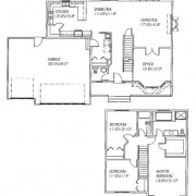 The Olivia: 3 bed, 3 bath floor plan