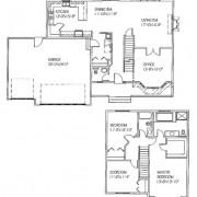 The Olivia: 3 bed, 3 bath floor plan