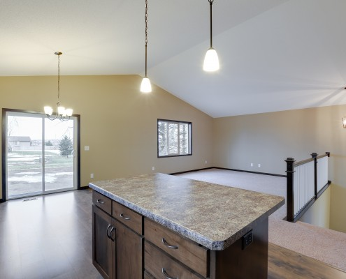 1522 18th St. Kitchen Island/Living Room