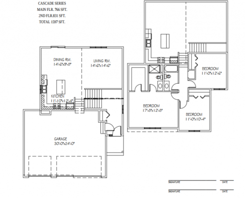 Floor plan of a move-in ready home in Clearwater, MN located at Mitchell Ave.