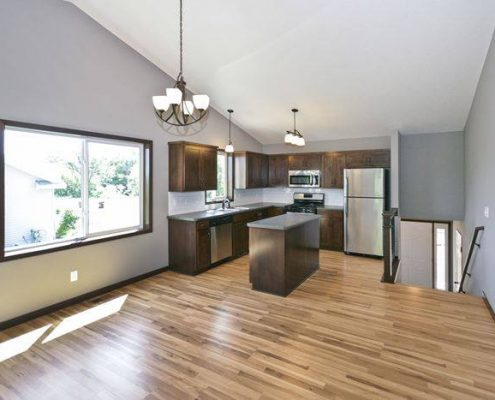 Interior kitchen of a move-in ready home in Foley, MN located at 1116 Golf Court.