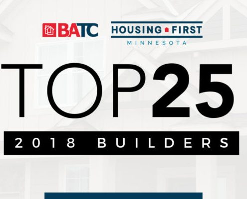 Progressive Builders named #15 Twin Cities Home Builder in 2018 by BATC.